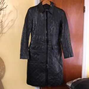 Express Leather Coat